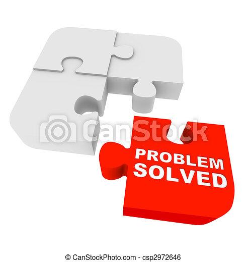 opgeloste, raadsel, -, probleem, stukken - csp2972646