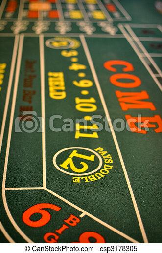 opgespoorde, casino, craps lijst - csp3178305