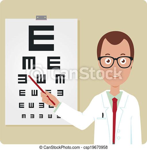 Ophtalmologiste, mâle. Ophtalmologiste, oeil, examiner, chart ... 3545b2cb00af