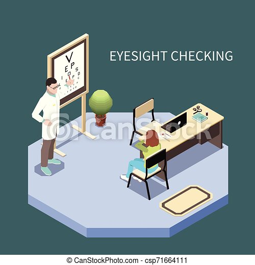 Ophthalmology Isometric Composition - csp71664111