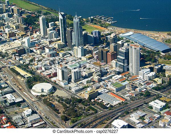 Perth City, vista aérea 2 - csp0276227