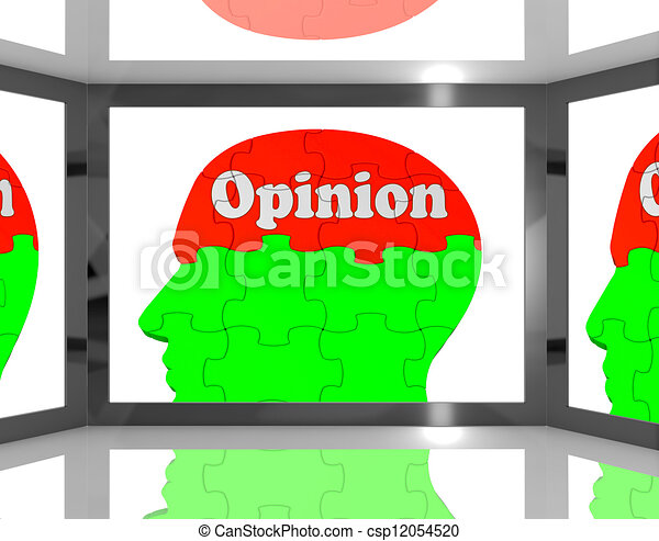 Opinion On Brain On Screen Showing Personal Opinion - csp12054520