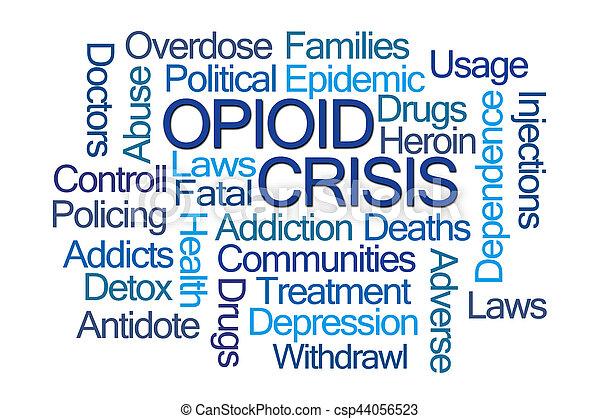 Opioid Crisis Word Cloud - csp44056523