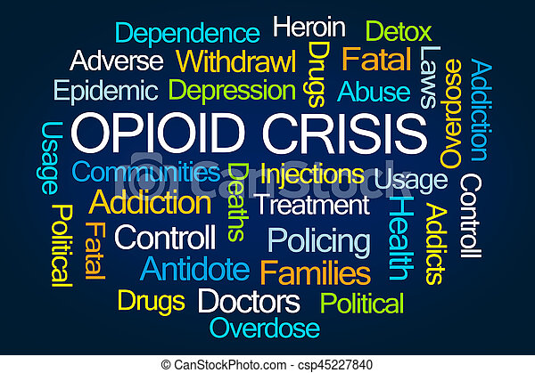 Opioid Crisis Word Cloud - csp45227840