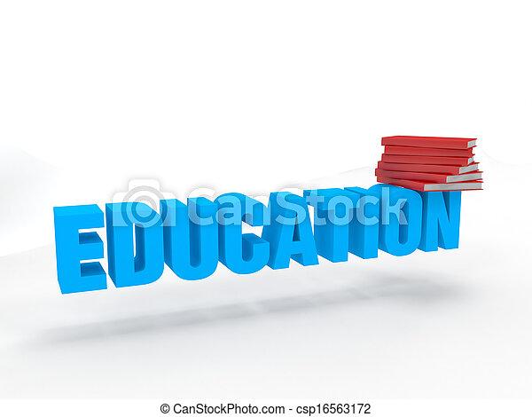 opleiding, boekjes , 3d - csp16563172