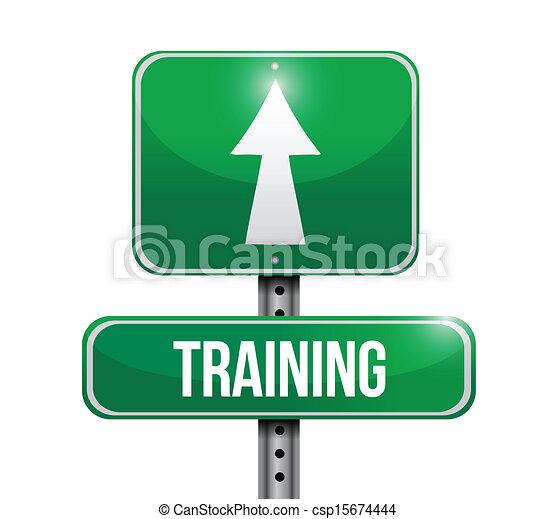 opleiding, ontwerp, straat, illustratie, meldingsbord - csp15674444
