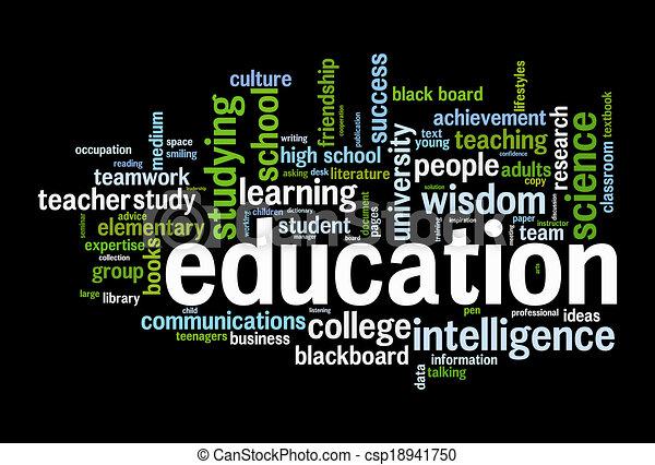 opleiding, woord, wolk - csp18941750