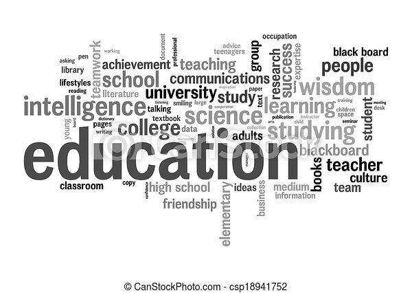 opleiding, woord, wolk - csp18941752