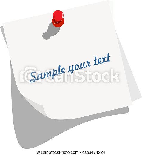 opmerking blok - csp3474224