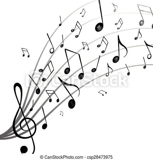 opmerkingen, muziek - csp28473975