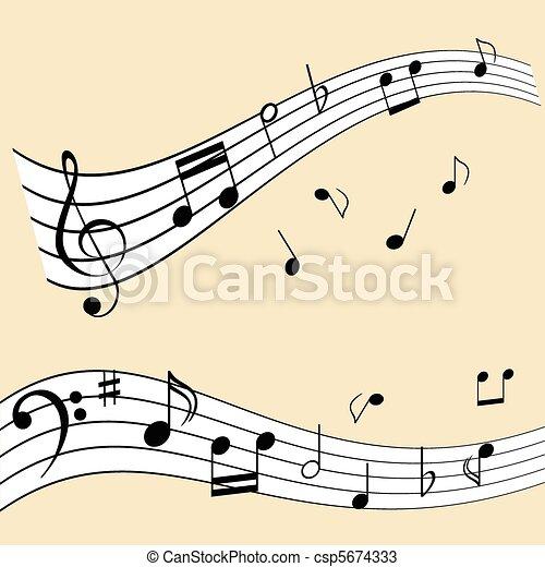 opmerkingen, muziek - csp5674333