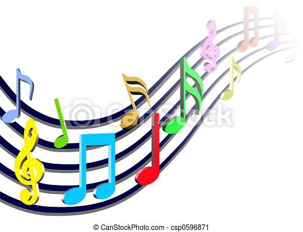 opmerkingen, muziek, kleurrijke - csp0596871