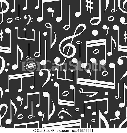 opmerkingen, muziek, seamless, achtergrond - csp15816581