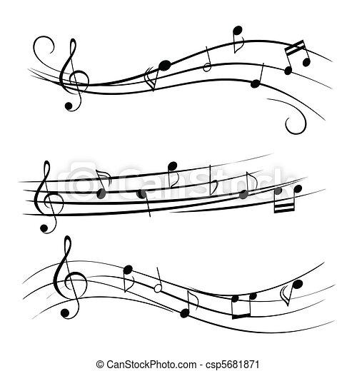 opmerkingen, muziek - csp5681871