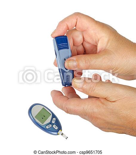 opmeting, glucose - csp9651705