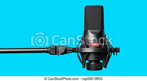 opname, microfoon, studio, podcasts - csp59019953