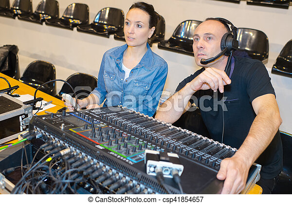 opname, vermenging, studio, bureau - csp41854657