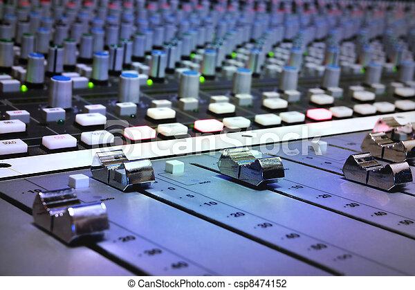 opname, vermenging, studio, console - csp8474152