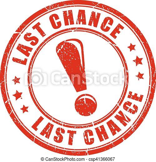 Última oportunidad sello de goma - csp41366067