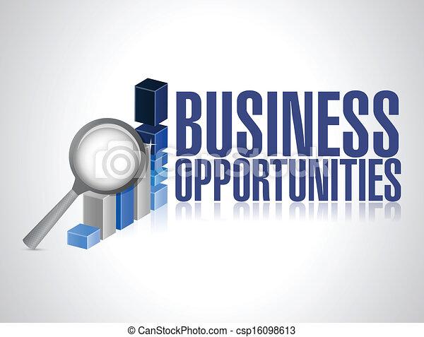 opportunities., recherche, graphique, business, recherche - csp16098613