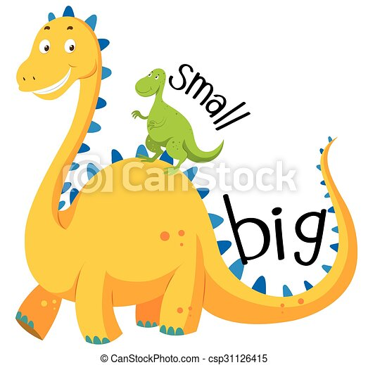 opposite adjective big and small illustration rh canstockphoto com small clip art turkey small clip art images flowers