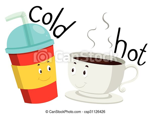 opposite adjective cold and hot illustration vector illustration rh canstockphoto com cold clip art free cold clipart png