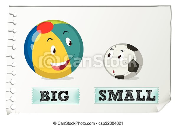 1a244567278c Opposite adjectives big and small