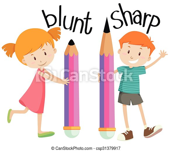 opposite adjectives with blunt and sharp illustration vector clip rh canstockphoto com eps clip art free eps clip art + for sale