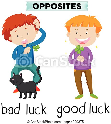opposite words for bad luck and good luck illustration rh canstockphoto com good luck clipart black and white good luck clip art free