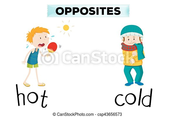 Opposite words for hot and cold - csp43656573