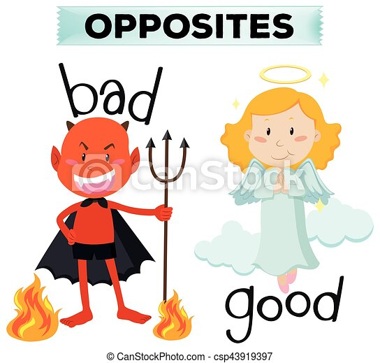 opposite words with bad and good illustration eps vectors search rh canstockphoto com world clipart word clip art images