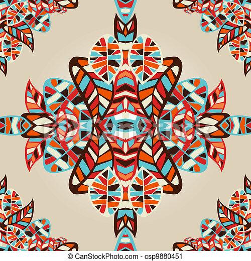 Optic effect geometric leaf pattern - csp9880451