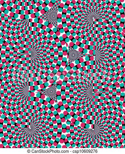 Optical effect of movement. Vector  - csp10609276