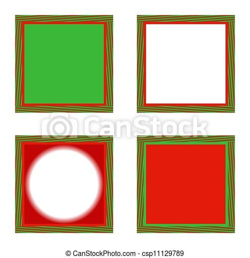 Optical illusion holiday frames. Illustration of four... stock ...