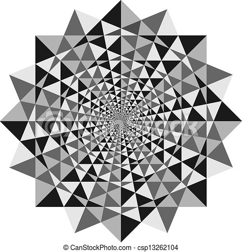 optical illusion abstract design with geometric shapes optical