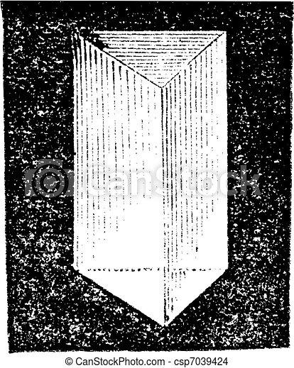 Optical prism vintage engraving - csp7039424