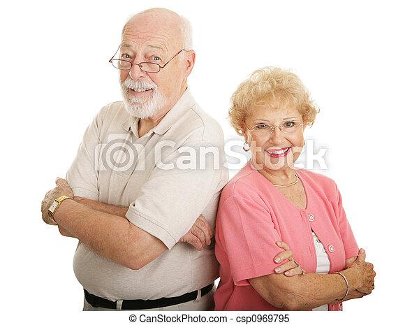 Optical Series - Attractive Seniors - csp0969795