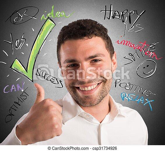 Optimism in business - csp31734926