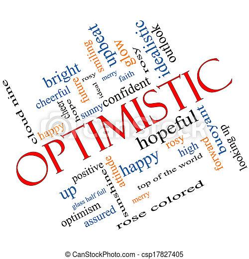 Optimistic Word Cloud Concept Angled - csp17827405