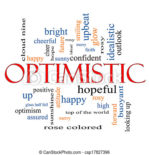 Optimistic Word Cloud Concept - csp17827396
