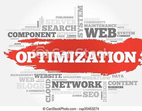 OPTIMIZATION word cloud - csp35453274