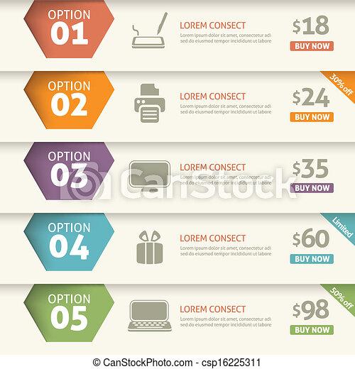 Option and price infographic  - csp16225311