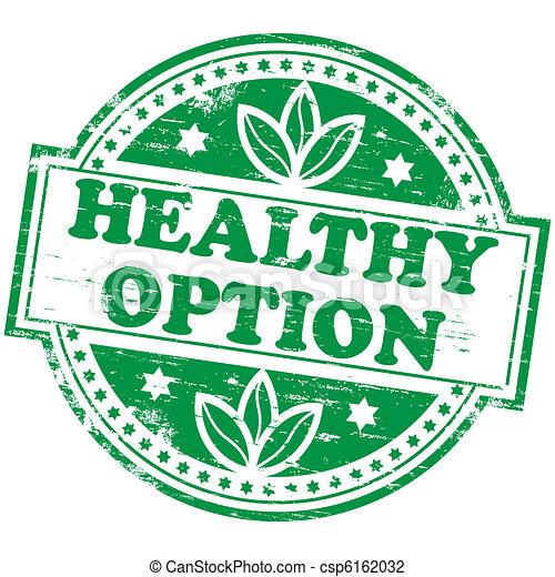 option, briefmarke, gesunde - csp6162032