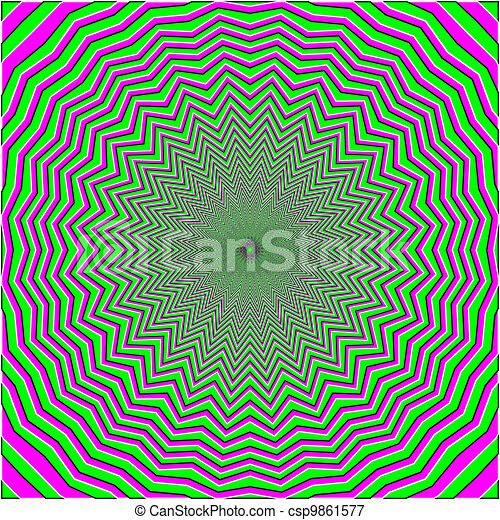 optische illusie - csp9861577