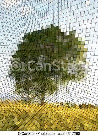 optische illusie - csp44817260