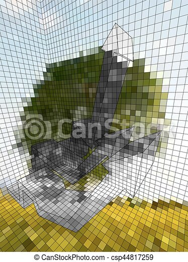 optische illusie - csp44817259