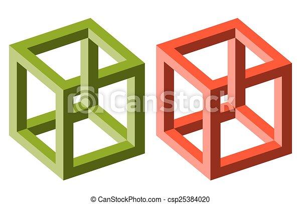 optische illusie - csp25384020