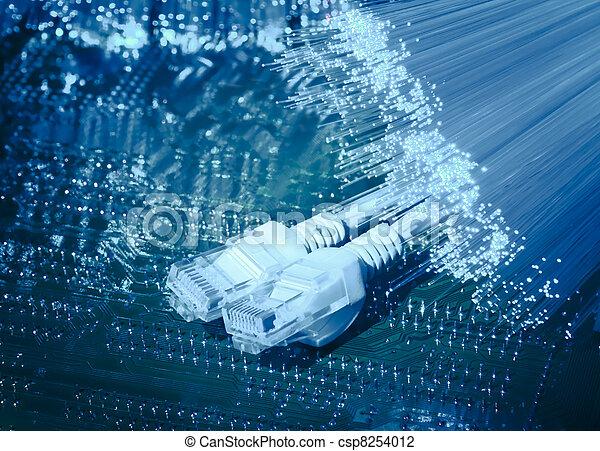 optisk fiber, abstrakt, bakgrund, internet teknik - csp8254012