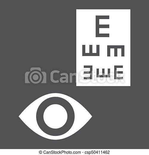 Optometry Glyph Icon Medicine And Healthcare Eye Sign Vector
