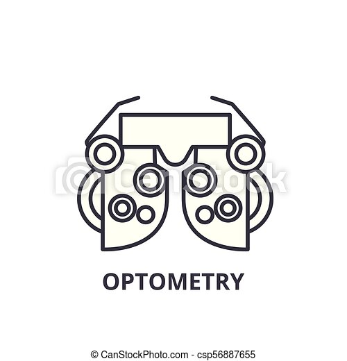 Optometry Thin Line Icon Sign Symbol Illustation Linear Concept